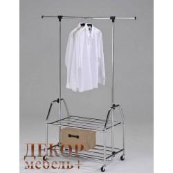 """Стойка для одежды  """" СН 4579""""на колесах (Хром)"""