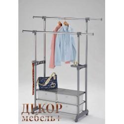 "Стояка для одежды ""CH 4618"" на колесиках (Серый)"