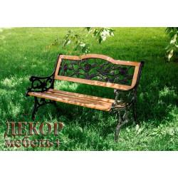 Скамейка садовая РОЗА 01.042.0