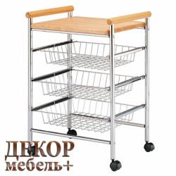 Столик-тележка кухонный ЕР 4180 натурель