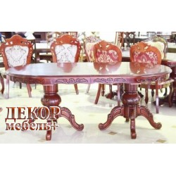 Стол D2079 HN Glaze  - овальный раскладной