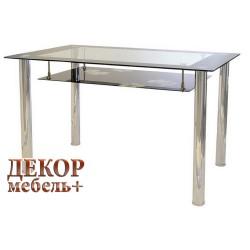 """Стол обеденный  """"1611""""  (Черный-Хром)"""