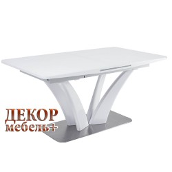 Стол FREYA 160 белый глянец