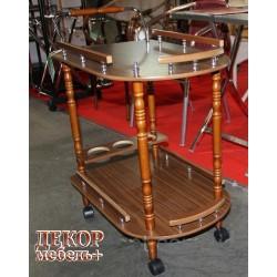 Столик SC 5512 сервировочный на колесиках орех